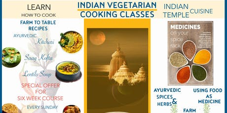 Indian Vegetarian Cooking Classes tickets