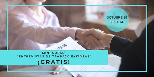 """Mini Curso """"Entrevistas de Trabajo Exitosas"""" ¡GRATIS!"""