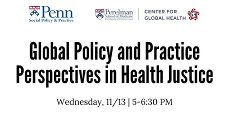 Global Policy and Practice Perspectives in Health Justice tickets