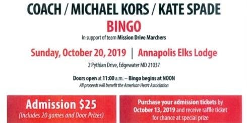 BINGO - Coach / Michael Kors / Kate Spade Bingo