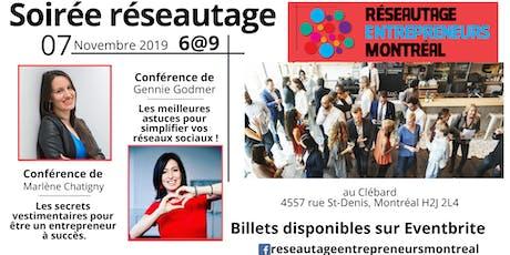 Réseautage Entrepreneurs Montréal 6@9 billets