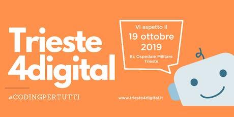 Trieste4digital | Sala Coding  | Ragazzi 12-15 anni biglietti