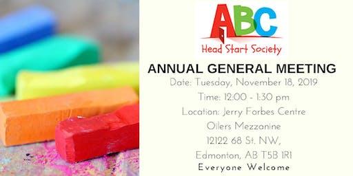 ABC Head Start Society Annual General Meeting