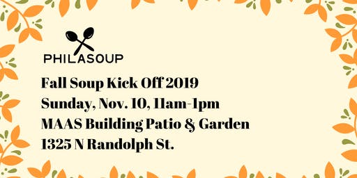 PhilaSoup Fall Soup & Kick Off 2019