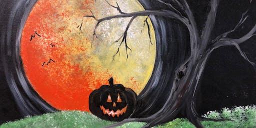 Brews & Brushstrokes Social Painting: Harvest Moon Pumpkin