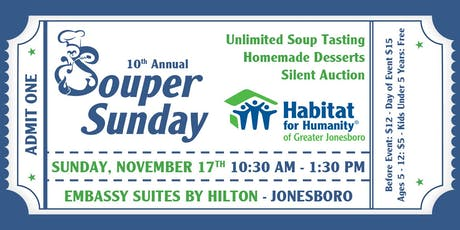 Habitat for Humanity of Greater Jonesboro Souper Sunday tickets