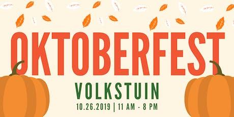 Oktoberfest at Volkstuin tickets