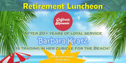 Barbara Kratz Retirement Luncheon
