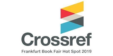 """Crossref """"Hot Spot Slot"""" presentation - Frankfurt Book Fair Tickets"""