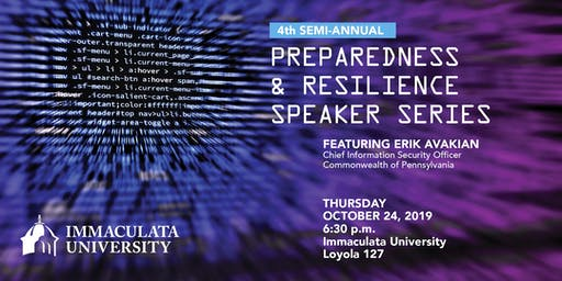 Preparedness & Resilience Speaker Series: October Event