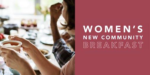Women's New Community Breakfast 2019.10.26