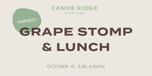Canoe Ridge Grape Stomp