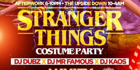 STRANGER THINGS HALLOWEEN COSTUME PARTY tickets