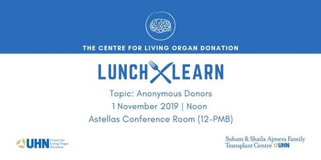 Lunch & Learn: Anonymous Donors tickets