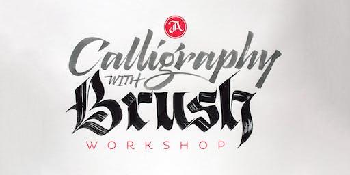 Caligrafia com Pincel, Workshop c/ Jackson Alves – São Paulo