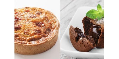 East Village: French Bistro Meal (Quiche & Lava Cake) (2019-11-17 starts at 10:00 AM)