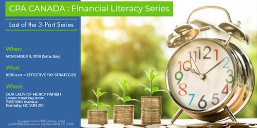 Financial Literacy Series - Last of the  3-Part Series