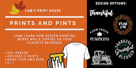 Prints and Pints tickets