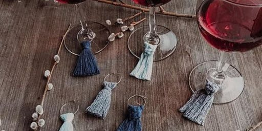 Create + Flow : Macrame Earrings, Wine Charms & Keychains