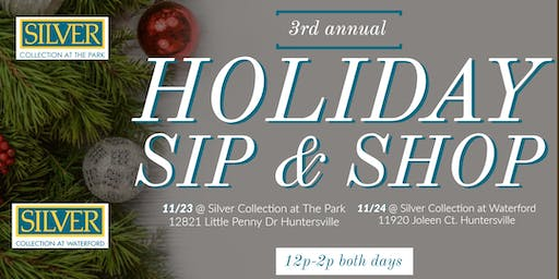 3rd Annual Holiday Sip & Shop at Silver Collection Huntersville