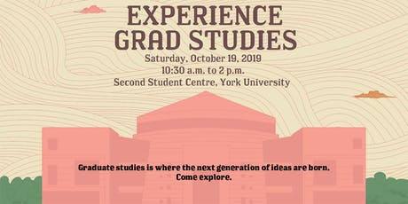 Experience Grad Studies tickets