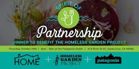 Spirit of Partnership Dinner: A Benefit for the Homeless Garden Project tickets