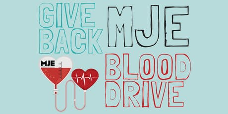 MJE Mitzvah Fair & Annual Blood Drive 2019 - Your Day of Giving Back! tickets