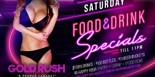 Saturday: Food & Drink Specials