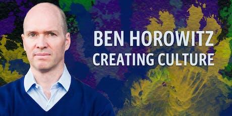 Ben Horowitz: Creating Culture tickets