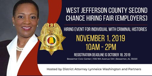 West Jefferson County Second Chance Hiring Fair (Employers)