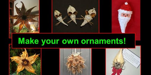 Open Space Holiday Ornaments Workshop; Make your own ornaments
