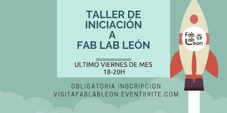 Iniciación a Fab Lab León / OCTUBRE 2019 entradas