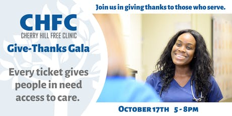 Give Thanks Gala | Cherry Hill Free Clinic tickets
