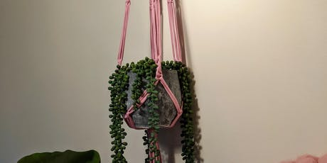 T shirt yarn macrame plant hanging workshop tickets