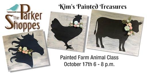 DIY Painted Farm Animal Sign class