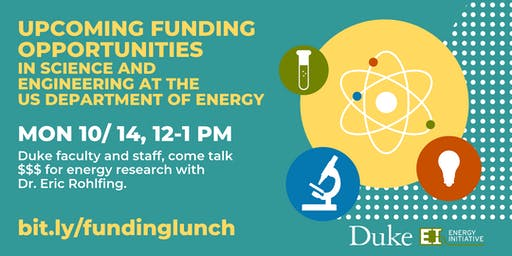 Upcoming Funding Opportunities in Science and Engineering at the US D.O.E.