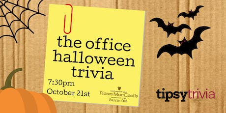 The Office Halloween Trivia - October 21st 8pm  Fionn MacCools Barrie tickets