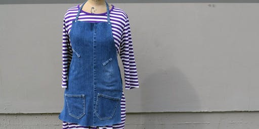 Upcycled Jeans to Apron workshop at Ragfinery
