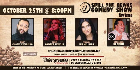 Spill the Beans Stand Up Comedy Show- RC Smith tickets
