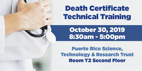 Death Certificate Technical Training tickets