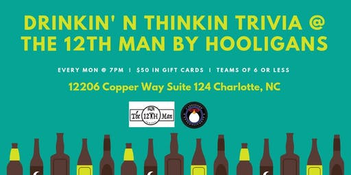Trivia at The 12th Man By Hooligans