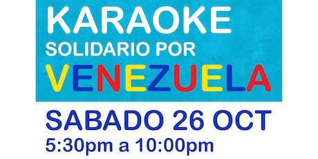 Karaoke Solidario por Venezuela 26 OCT tickets