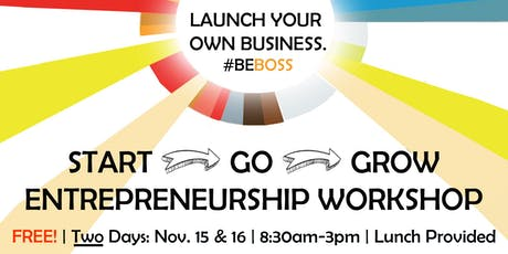 START > GO > GROW ENTREPRENEURSHIP WORKSHOP tickets
