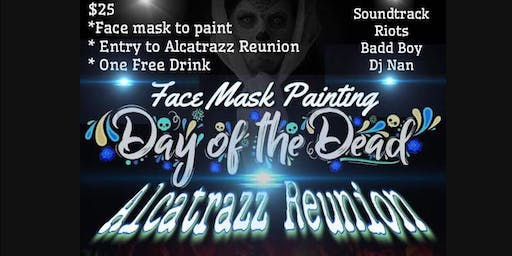 Face Mask Painting Day of the Dead - Alcatrazz Reunion