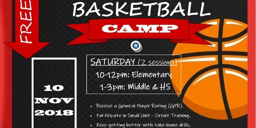 M.A.S.S Basketball Camp (FREE) 10-19-19
