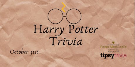 Harry Potter Trivia - Oct 31 8pm Fionn MacCools Barrie On tickets