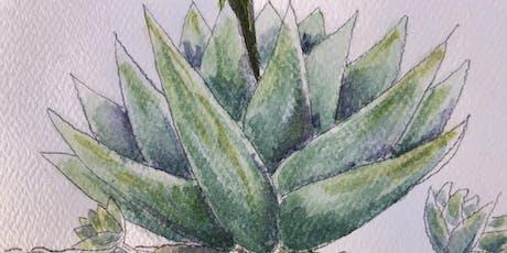 Exploring Watercolor Through Botanical Forms: Senior Series tickets