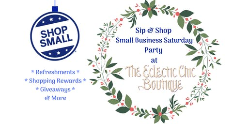 Sip & Shop Small Business Saturday Party