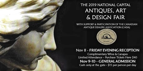 2019 National Capital Antiques, Art & Design Fair - Friday Night Reception tickets