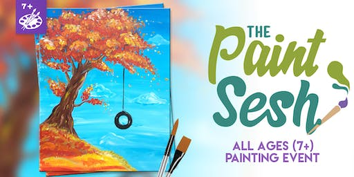 """All Ages Paint Class: Riverside, CA - """"Fall Swing"""""""